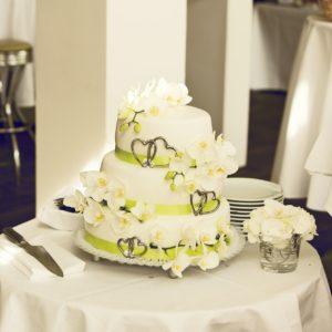 Fondant-Hochzeitstorte
